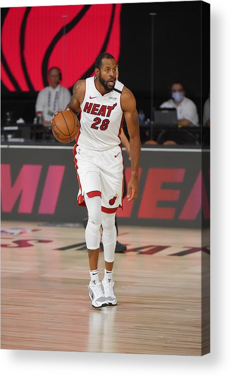 Nba Pro Basketball Acrylic Print featuring the photograph Andre Iguodala by Bill Baptist