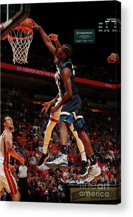 Nba Pro Basketball Acrylic Print featuring the photograph Andrew Wiggins by Issac Baldizon