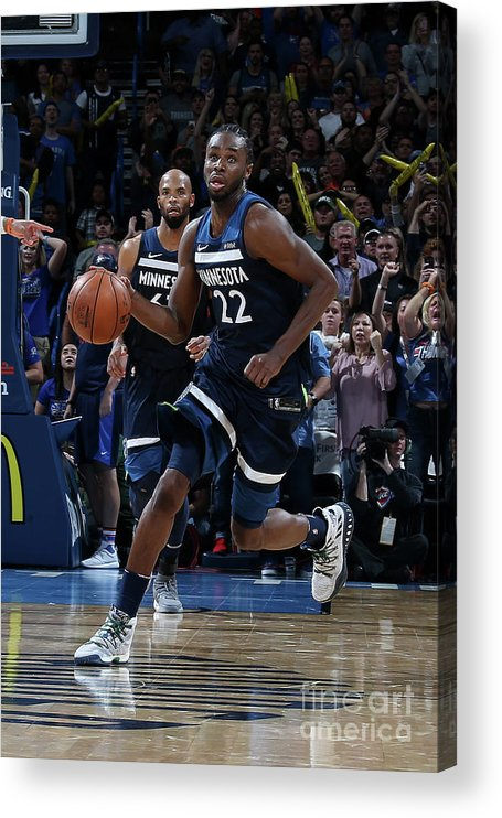 Sport Acrylic Print featuring the photograph Andrew Wiggins by Layne Murdoch