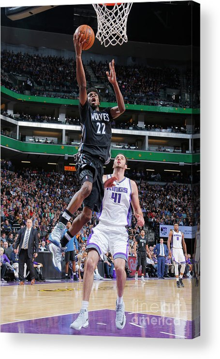 Nba Pro Basketball Acrylic Print featuring the photograph Andrew Wiggins by Rocky Widner