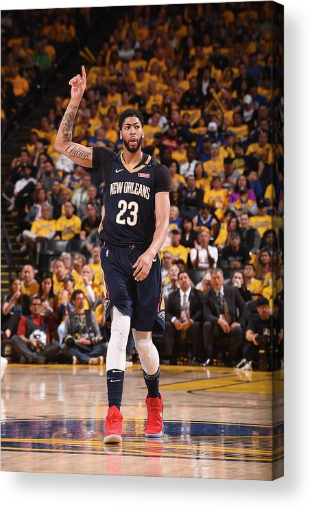 Playoffs Acrylic Print featuring the photograph Anthony Davis by Noah Graham