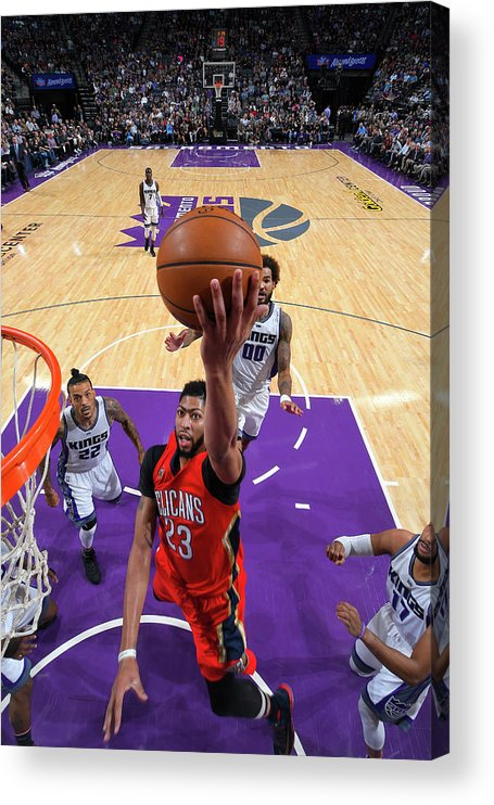 Nba Pro Basketball Acrylic Print featuring the photograph Anthony Davis by Rocky Widner