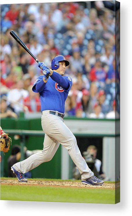 People Acrylic Print featuring the photograph Anthony Rizzo by Mitchell Layton