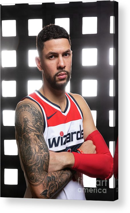 Media Day Acrylic Print featuring the photograph Austin Rivers by Stephen Gosling