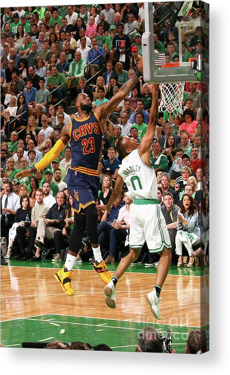 Playoffs Acrylic Print featuring the photograph Avery Bradley and Lebron James by Nathaniel S. Butler