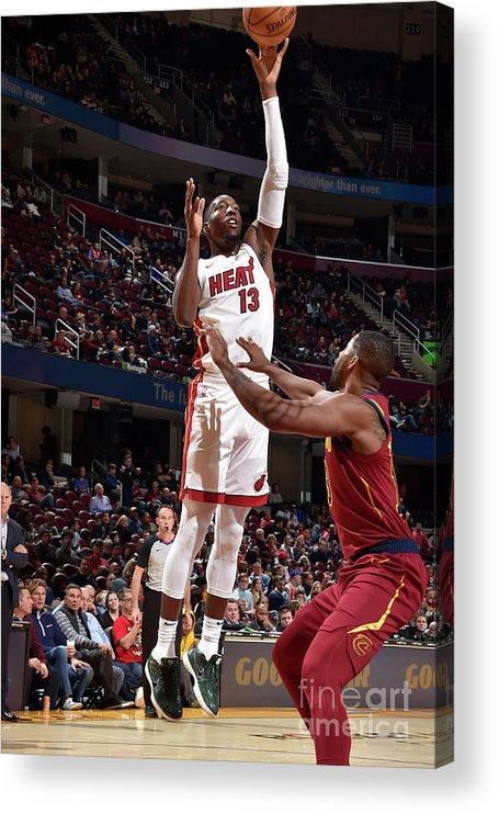 Nba Pro Basketball Acrylic Print featuring the photograph Bam Adebayo by David Liam Kyle