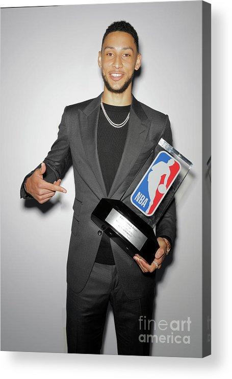 Nba Pro Basketball Acrylic Print featuring the photograph Ben Simmons by Atiba Jefferson