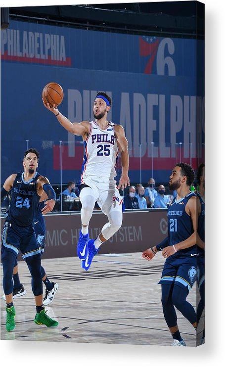 Nba Pro Basketball Acrylic Print featuring the photograph Ben Simmons by Bill Baptist