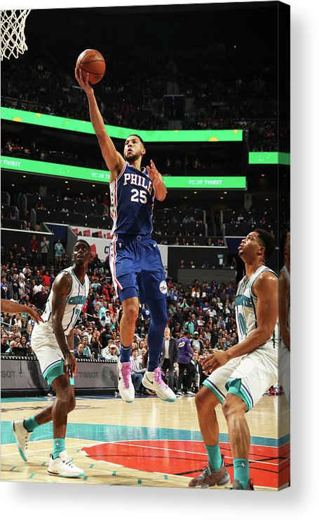 Nba Pro Basketball Acrylic Print featuring the photograph Ben Simmons by Kent Smith