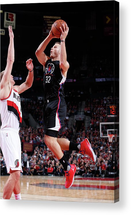 Nba Pro Basketball Acrylic Print featuring the photograph Blake Griffin by Sam Forencich