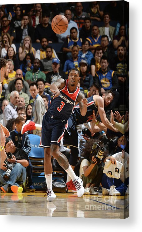 Nba Pro Basketball Acrylic Print featuring the photograph Bradley Beal by Noah Graham