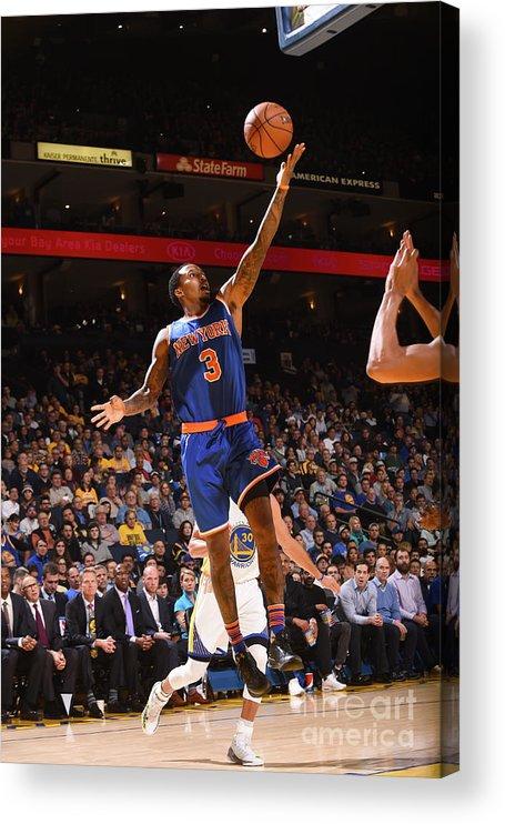 Nba Pro Basketball Acrylic Print featuring the photograph Brandon Jennings by Noah Graham