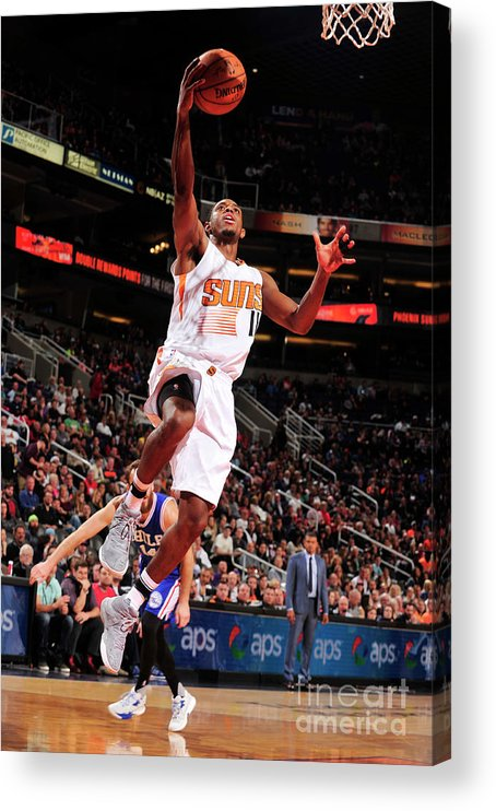 Nba Pro Basketball Acrylic Print featuring the photograph Brandon Knight by Barry Gossage