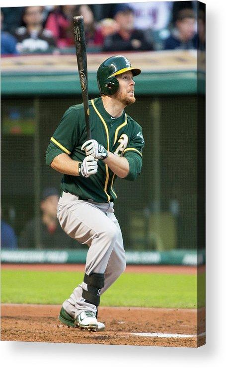 American League Baseball Acrylic Print featuring the photograph Brandon Moss by Jason Miller