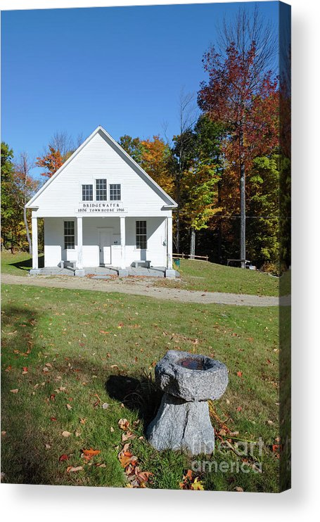 New Hampshire Acrylic Print featuring the photograph Bridgewater Meetinghouse - Bridgewater New Hampshire by Erin Paul Donovan