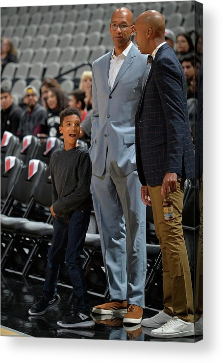 Nba Pro Basketball Acrylic Print featuring the photograph Bruce Bowen and Monty Williams by Mark Sobhani