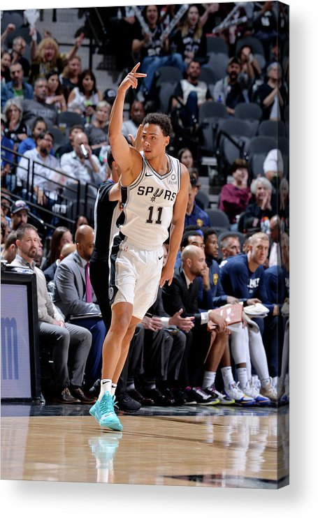 Playoffs Acrylic Print featuring the photograph Bryn Forbes by Mark Sobhani
