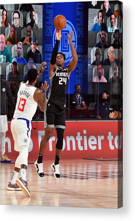 Nba Pro Basketball Acrylic Print featuring the photograph Buddy Hield by Jesse D. Garrabrant