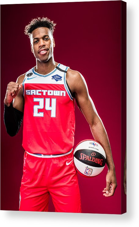 Nba Pro Basketball Acrylic Print featuring the photograph Buddy Hield by Michael J. LeBrecht II