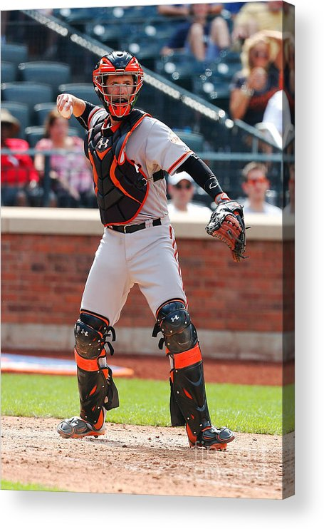 American League Baseball Acrylic Print featuring the photograph Buster Posey by Mike Stobe