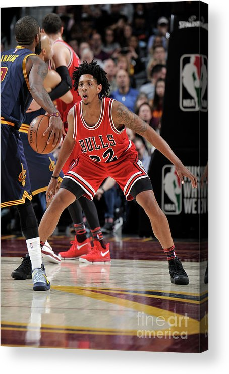 Nba Pro Basketball Acrylic Print featuring the photograph Cameron Payne by David Liam Kyle