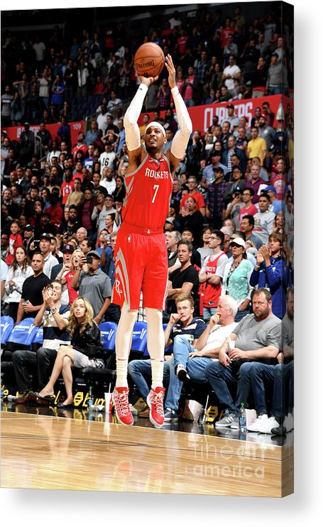 Nba Pro Basketball Acrylic Print featuring the photograph Carmelo Anthony by Andrew D. Bernstein