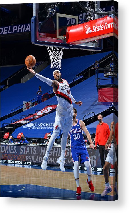 Nba Pro Basketball Acrylic Print featuring the photograph Carmelo Anthony by Jesse D. Garrabrant