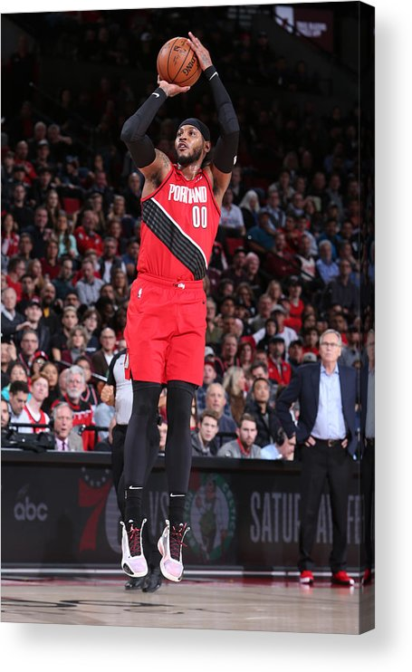 Nba Pro Basketball Acrylic Print featuring the photograph Carmelo Anthony by Sam Forencich