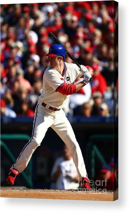 Playoffs Acrylic Print featuring the photograph Chase Utley by Chris Mcgrath