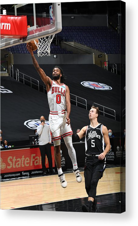 Coby White Acrylic Print featuring the photograph Chicago Bulls v LA Clippers by Adam Pantozzi
