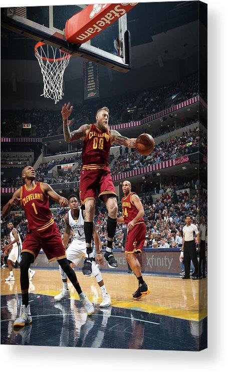 Nba Pro Basketball Acrylic Print featuring the photograph Chris Andersen by Joe Murphy