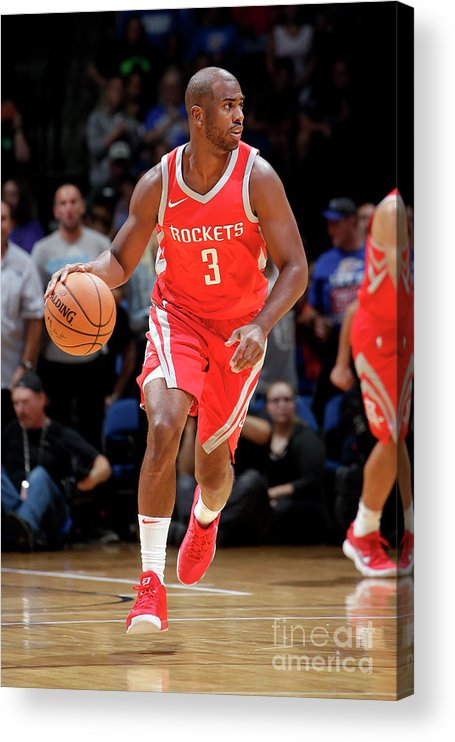 Nba Pro Basketball Acrylic Print featuring the photograph Chris Paul by Shane Bevel