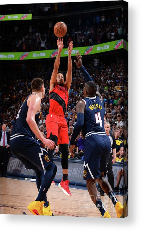 Playoffs Acrylic Print featuring the photograph C.j. Mccollum by Bart Young
