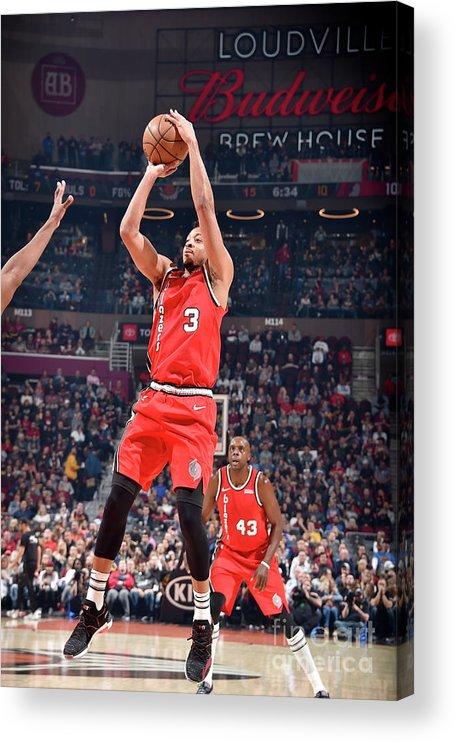 Nba Pro Basketball Acrylic Print featuring the photograph C.j. Mccollum by David Liam Kyle