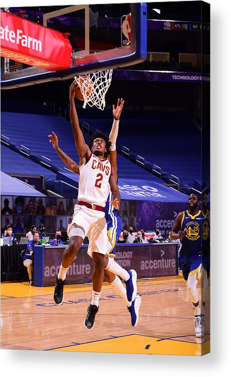 San Francisco Acrylic Print featuring the photograph Cleveland Cavaliers v Golden State Warriors by Noah Graham