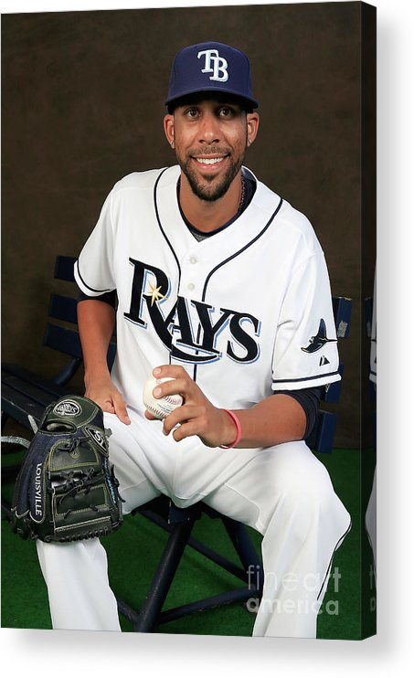 Media Day Acrylic Print featuring the photograph David Price by Rob Carr