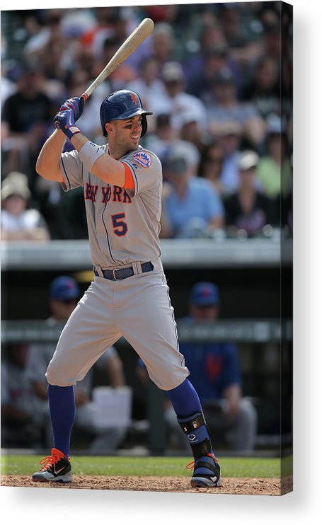 National League Baseball Acrylic Print featuring the photograph David Wright by Doug Pensinger