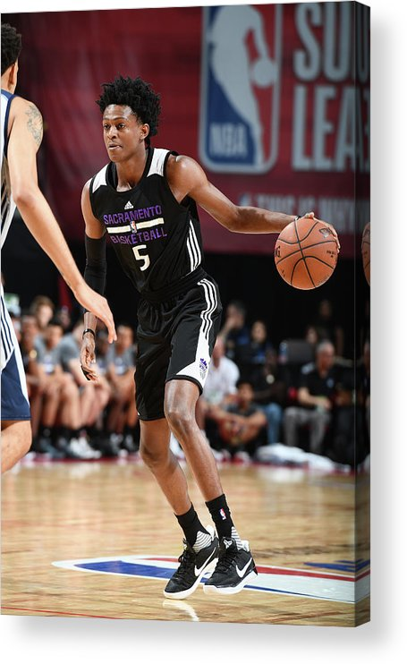 Nba Pro Basketball Acrylic Print featuring the photograph De'aaron Fox by Garrett Ellwood