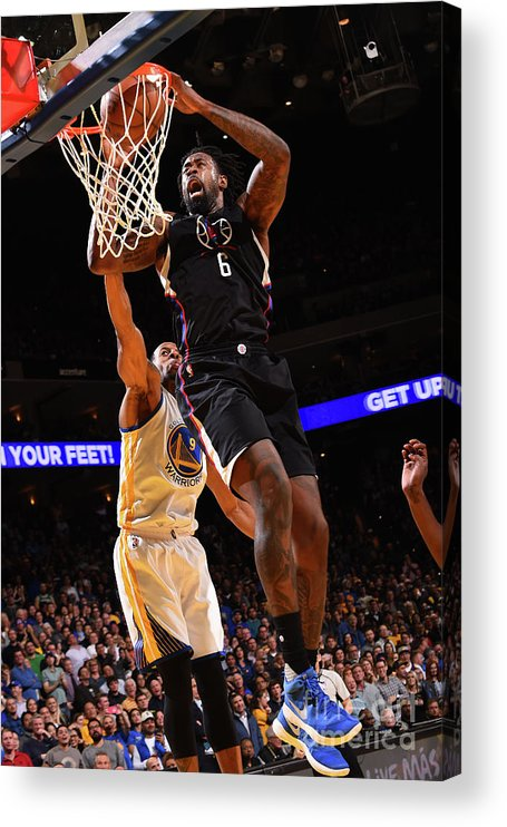 Nba Pro Basketball Acrylic Print featuring the photograph Deandre Jordan by Noah Graham