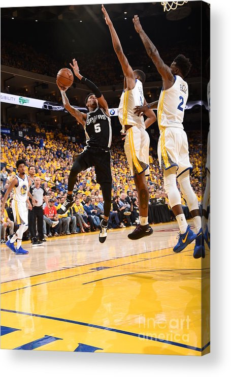 Playoffs Acrylic Print featuring the photograph Dejounte Murray by Andrew D. Bernstein