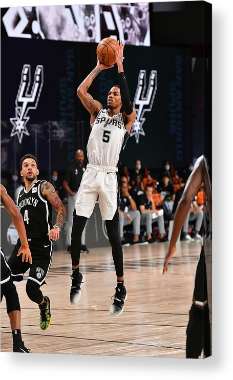 Nba Pro Basketball Acrylic Print featuring the photograph Dejounte Murray by Jesse D. Garrabrant