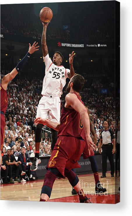 Playoffs Acrylic Print featuring the photograph Delon Wright by Ron Turenne