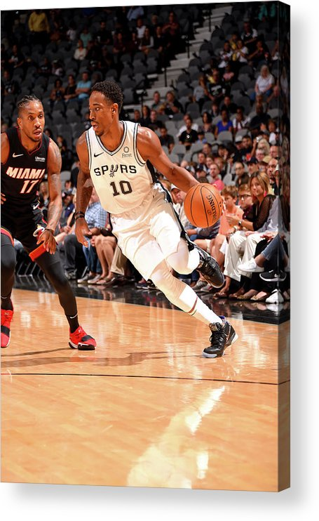 Nba Pro Basketball Acrylic Print featuring the photograph Demar Derozan by Bill Baptist