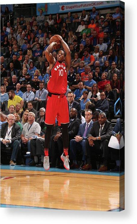 Nba Pro Basketball Acrylic Print featuring the photograph Demar Derozan by Layne Murdoch