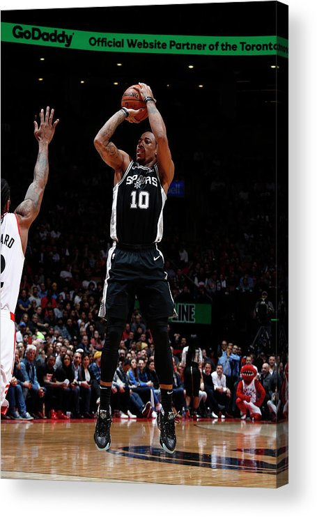 Nba Pro Basketball Acrylic Print featuring the photograph Demar Derozan by Mark Blinch