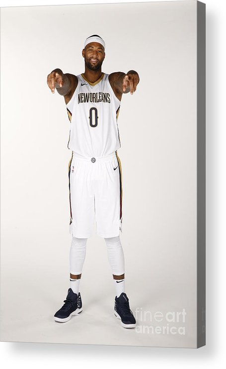 Media Day Acrylic Print featuring the photograph Demarcus Cousins by Jonathan Bachman
