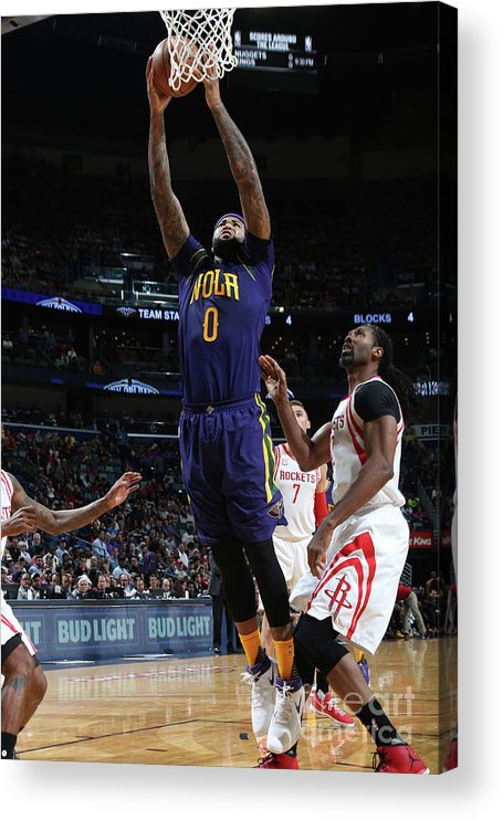 Smoothie King Center Acrylic Print featuring the photograph Demarcus Cousins by Layne Murdoch