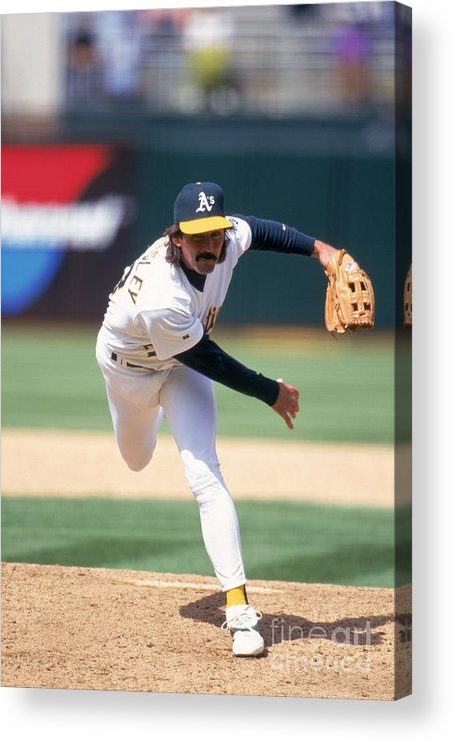 Oakland Acrylic Print featuring the photograph Dennis Eckersley by Jeff Carlick