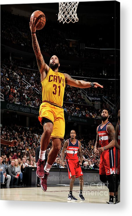 Nba Pro Basketball Acrylic Print featuring the photograph Deron Williams by David Liam Kyle