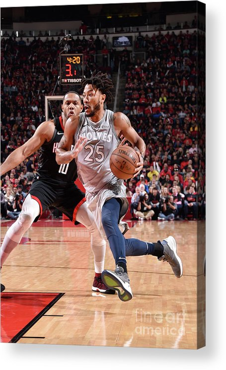 Playoffs Acrylic Print featuring the photograph Derrick Rose by Bill Baptist